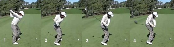 McIlroy pulls the club head around his body.